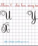 Sử dụng mẫu chữ tập viết cho học sinh tiểu học trên máy tính