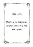 Tiểu luận:  Thực trạng của công đoạn gia công hoàn thiện sách tại Việt Nam hiện nay