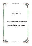 TIỂU LUẬN: Thực trạng công tác quản lý thu thuế khu vực NQD
