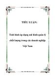 TIỂU LUẬN:  Tình hình áp dụng mô hình quản lý chất lượng trong các doanh nghiệp Việt Nam