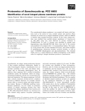 Báo cáo khoa học: Proteomics of Synechocystis sp. PCC 6803 Identification of novel integral plasma membrane proteins