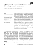Báo cáo khoa học: UXT interacts with the transcriptional repressor protein EVI1 and suppresses cell transformation