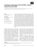 Báo cáo khoa học: A di-leucine sorting signal in ZIP1 (SLC39A1) mediates endocytosis of the protein