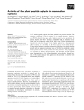Báo cáo khoa học: Activity of the plant peptide aglycin in mammalian systems