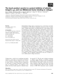 Báo cáo khoa học: The leech product saratin is a potent inhibitor of platelet integrin a2b1 and von Willebrand factor binding to collagen