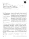 Báo cáo khoa học:  Nitric oxide in blood The nitrosative–oxidative disequilibrium hypothesis on the pathogenesis of cardiovascular disease
