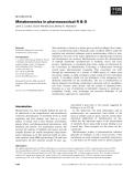 Báo cáo khoa học: Metabonomics in pharmaceutical R & D