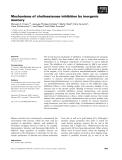 Báo cáo khoa học: Mechanisms of cholinesterase inhibition by inorganic mercury