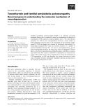 Báo cáo khoa học:  Transthyretin and familial amyloidotic polyneuropathy Recent progress in understanding the molecular mechanism of neurodegeneration