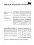 Báo cáo khoa học: Insights into the structure of plant a-type phospholipase D Susanne Stumpe, Stephan Konig and Renate Ulbrich-Hofmann ¨