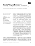 Báo cáo khoa học: A novel trehalase from Mycobacterium smegmatis ) purification, properties, requirements