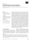 Báo cáo khoa học: Gene silencing at the nuclear periphery