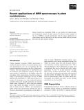 Báo cáo khoa học: Recent applications of NMR spectroscopy in plant metabolomics