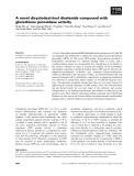 Báo cáo khoa học: A novel dicyclodextrinyl diselenide compound with glutathione peroxidase activity
