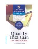 Cẩm nang Kinh doanh Harvard (Harvard business essentials): Quản lý thời gian