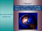 Chương 5: CÔNG CỤ PHÒNG NGỪA RỦI RO TRONG HOẠT ĐỘNG TÀI CHÍNHHỌC VIỆN TÀI CHÍNH BỘ MÔN TCDN