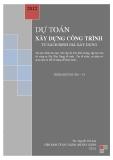 Ebook Dự toán xây dựng công trình - ThS. NguyễnThế Anh