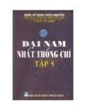Quốc sử quán triều Nguyễn - Đại Nam nhất thống chí Tập 5