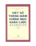 Việt sử thông giám cương mục khảo lược - Nguyễn Thông
