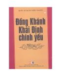 Đồng Khánh Khải Định chính yếu - Quốc sử quán triều Nguyễn