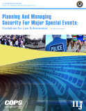 Planning And Managing Security For Major Special Events:  Guidelines for Law Enforcement