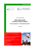 "Selling High-Quality Consumer Goods to Mexico - Industry Supplement to ""Doing Business in Mexico"""