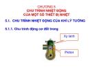 Giáo trình Chương 5: Chu trình nhiệt động của một số thiết bị nhiệt