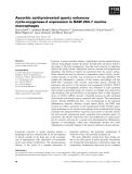 Báo cáo khoa học: Ascorbic acid-pretreated quartz enhances cyclo-oxygenase-2 expression in RAW 264.7 murine macrophages