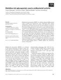 Báo cáo khoa học: Histidine-rich glycoprotein exerts antibacterial activity