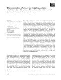 Báo cáo khoa học: Characterization of wheat puroindoline proteins