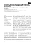 Báo cáo khoa học: Inactivation of tyrosine phenol-lyase by Pictet–Spengler reaction and alleviation by T15A mutation on intertwined N-terminal arm