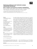 Báo cáo khoa học: Cold stress defense in the freshwater sponge Lubomirskia baicalensis