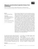 Báo cáo khoa học: Allosteric monofunctional aspartate kinases from Arabidopsis