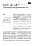 Báo cáo khoa học: Phytochelatin–cadmium–sulfide high-molecular-mass complexes of Euglena gracilis