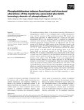Báo cáo khoa học: Phosphatidylserine induces functional and structural alterations of the membrane-associated pleckstrin homology domain of phospholipase C-d1