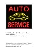 CertifiedMasterTech.Com - Presents: A Mechanics Secrets Revealed!