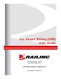 Car Repair Billing (CRB) User Guide