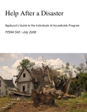 Help After a Disaster Applicant's Guide to the Individuals & Households Program