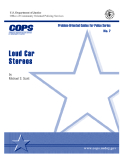 Problem-Oriented Guides for Police Series: Loud Car Stereos
