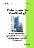 Make space for  Car-Sharing!