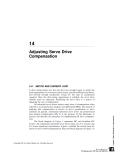 Adjusting Servo Drive Compensation