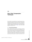 Servo Plant Compensation Techniques