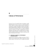 Indexes of Performance