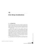 Drive Sizing Considerations