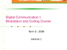 Digital Communication I: Modulation and Coding Course-Lecture 1