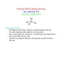 Chuyên đề bồi dưỡng hoá học học sinh lớp 8-9