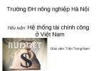 Hệ  thống tài chính công ở Việt Nam