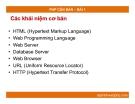 PHP CĂN BẢN –   BÀI 1