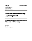 Guide to Computer Security Log Management