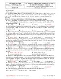 KY THI KSCL THI ĐẠI HỌC NĂM 2011 LẦN 1 MÔN HÓA HỌC THPT THUẬN THÀNH II